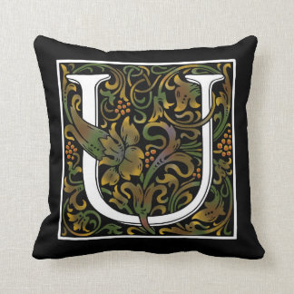 Monogram U Color Pillow