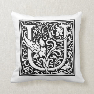 Monogram U Pillow