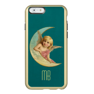 Monogram Vintage Angel sitting on a crescent moon Incipio Feather® Shine iPhone 6 Case