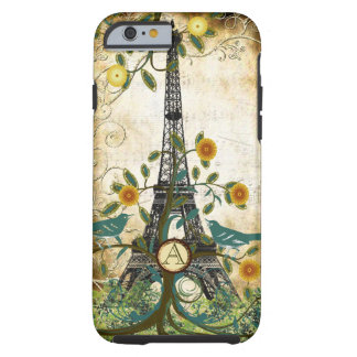 Monogram Vintage Bird Effiel Tower iPhone 5 Case