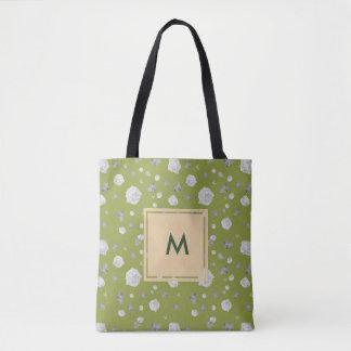 Monogram Vintage Botanical Green Tote Bag