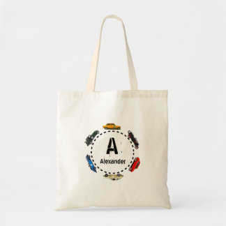 Monogram Vintage Cars Tote Bag