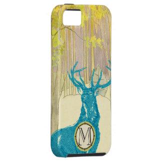 Monogram Vintage Deer Art Nouveau Forest iphone iPhone 5 Cases