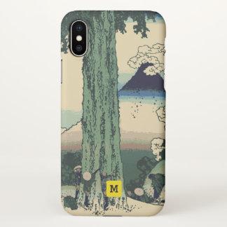 Monogram. Vintage Japanese. Hokusai Painting. iPhone X Case