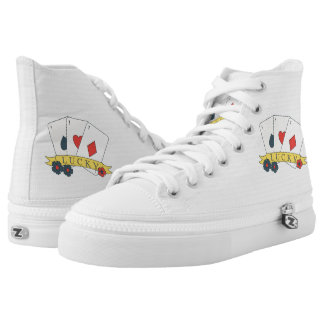 Monogram. Vintage Lucky Trio of Aces Card. High Tops