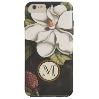 Monogram Vintage Magnolia Floral Pattern iphone Tough iPhone 6 Plus Case