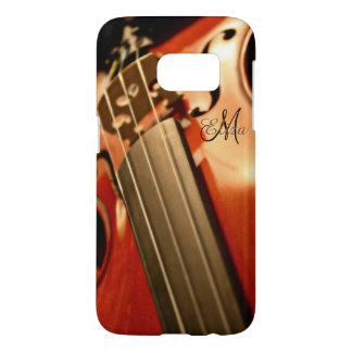Monogram Violin Music Samsung Galaxy S7 Case