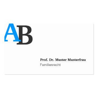 Monogram visiting cards pack of standard business cards