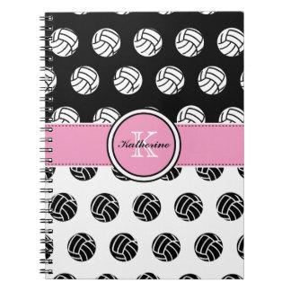 Monogram Volleyball Spiral Notebook