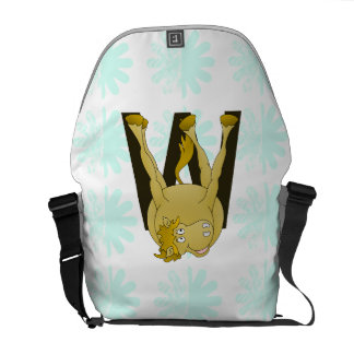Monogram W Agile Pony Customized Courier Bag