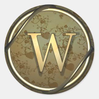 monogram_w stickers