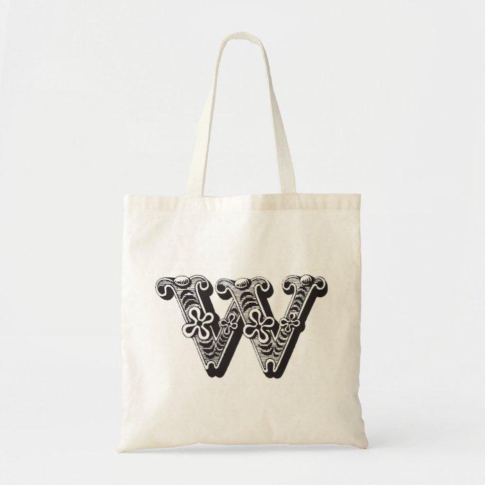 Monogram W tote bag