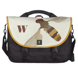 monogram wasp bee insect nature science unique bags for laptop