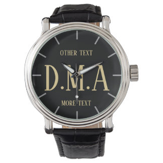Monogram Watch Men Personalized Elegant Classy 2