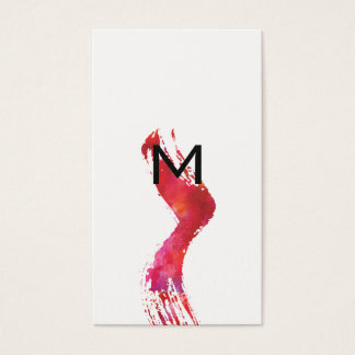 Monogram Watercolor brush Business Card