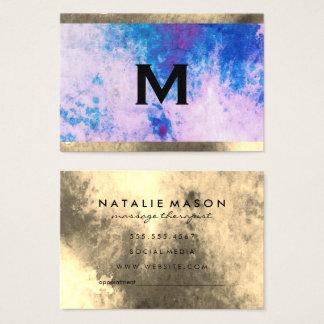 Monogram Watercolor Trim (appointment card)