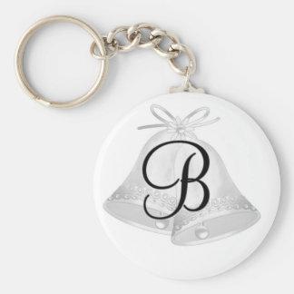 Monogram Wedding Bell Key Chain