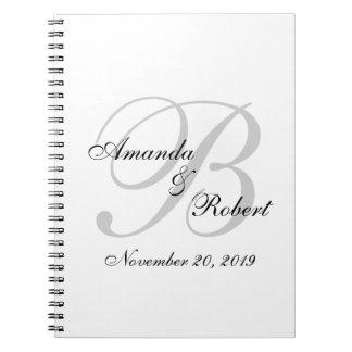 Monogram Wedding Custom Guest Book Note Books