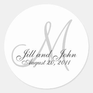 Monogram Wedding Favour Sticker