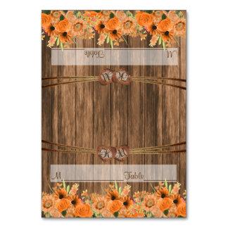 Monogram Wedding Hearts with Orange Floral Card