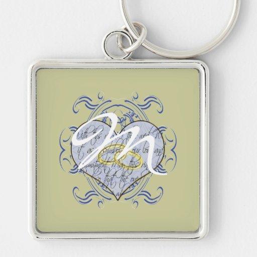 Monogram Wedding Invitations & Gifts Key Chain