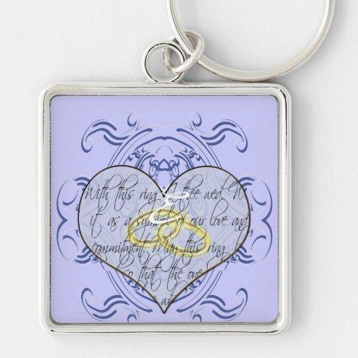 Monogram Wedding Invitations & Gifts Keychain