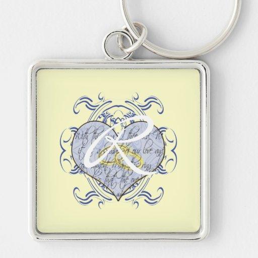 Monogram Wedding Key Chains