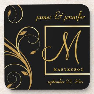 Monogram Wedding or Anniversary Gift Cork Coasters