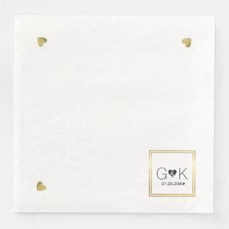 monogram . wedding paper napkin