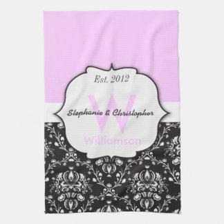 Monogram Wedding Personalized Tea Towel
