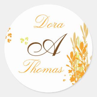Monogram wedding Sticker