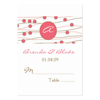 Monogram Wedding Table Seating Cards Business Card Template