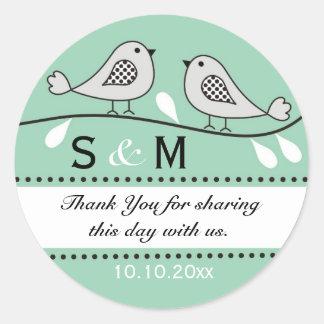 Monogram Wedding Thank You Stickers