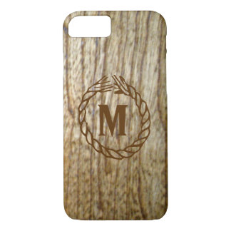 Monogram Western Wood n Rope Look iPhone 8/7 Case