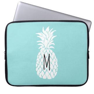 monogram white pineapple laptop sleeve