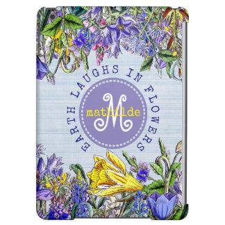 Monogram Wildflowers Vintage Victorian Flowers