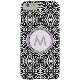 Monogram with black and white flirty pattern barely there iPhone 6 plus case