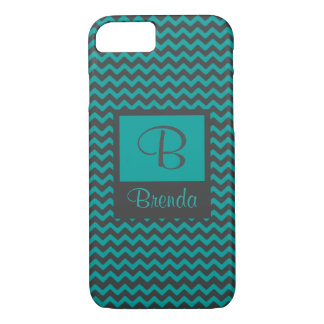Monogram with Blue and Gray Design iPhone 8/7 Case