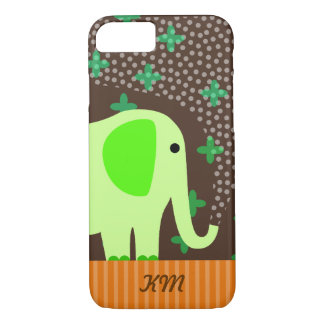 Monogram with Elephant iPhone 8/7 Case