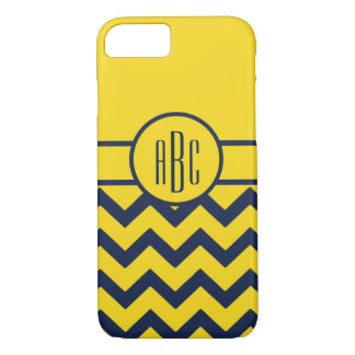 Monogram with Maize and Blue Design iPhone 8/7 Case