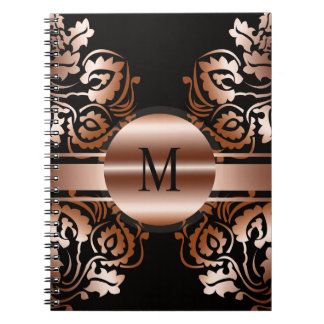 Monogram_with patterns background notebook