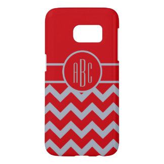 Monogram with Scarlet and Gray Design
