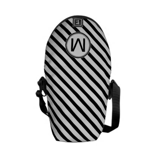 Monogram with Stripes Courier Bags