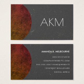 Monogram with Texturized Color Ways Business Card