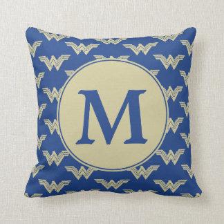 Monogram Wonder Woman Logo Pattern Cushion