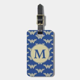 Monogram Wonder Woman Logo Pattern Luggage Tag
