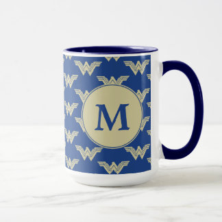 Monogram Wonder Woman Logo Pattern Mug