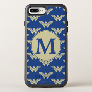 Monogram Wonder Woman Logo Pattern OtterBox Symmetry iPhone 8 Plus/7 Plus Case