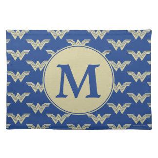 Monogram Wonder Woman Logo Pattern Placemat