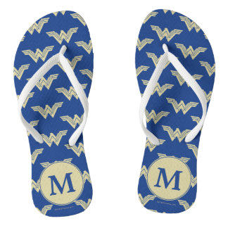 Monogram Wonder Woman Logo Pattern Thongs